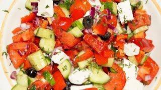 Греческий салат / Простой салат на Новый год