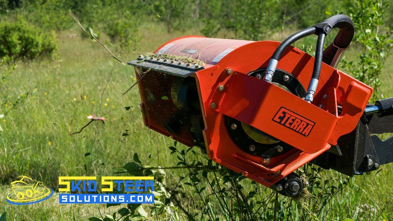 Eterra Mini Skid Steer Sidewinder Flail Mower | Product Overview + Demo