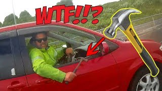 CRAZY MAN WITH HAMMER | STUPID ANGRY PEOPLE vs BIKERS |  [Ep. #174]