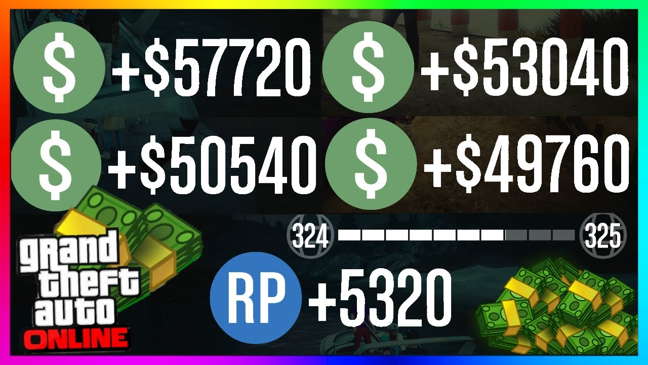 How to get money and rp in gta 5 online fast