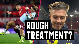 Jack Grealish reacts to rough treatment from Manchester Utd at Old Trafford | Astro SuperSport Video