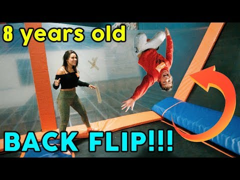TEACHING OUR SON HOW TO BACKFLIP! **GONE WRONG** | The Royalty Family