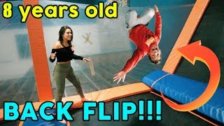 TEACHING OUR SON HOW TO BACKFLIP! GONE WRONG The Royalty Family