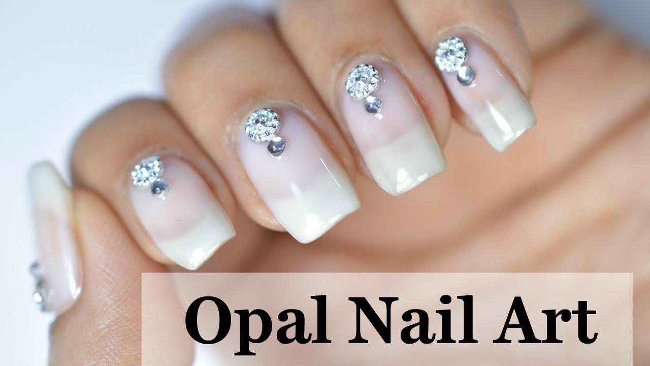 Easy Opal nail art tutorial - YouTube