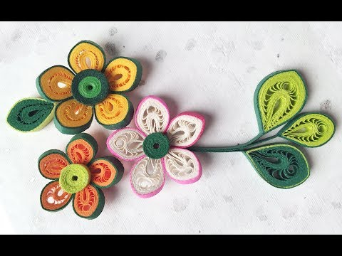 Quilling Flowers Tutorial | How To Make Paper Quilling Flower