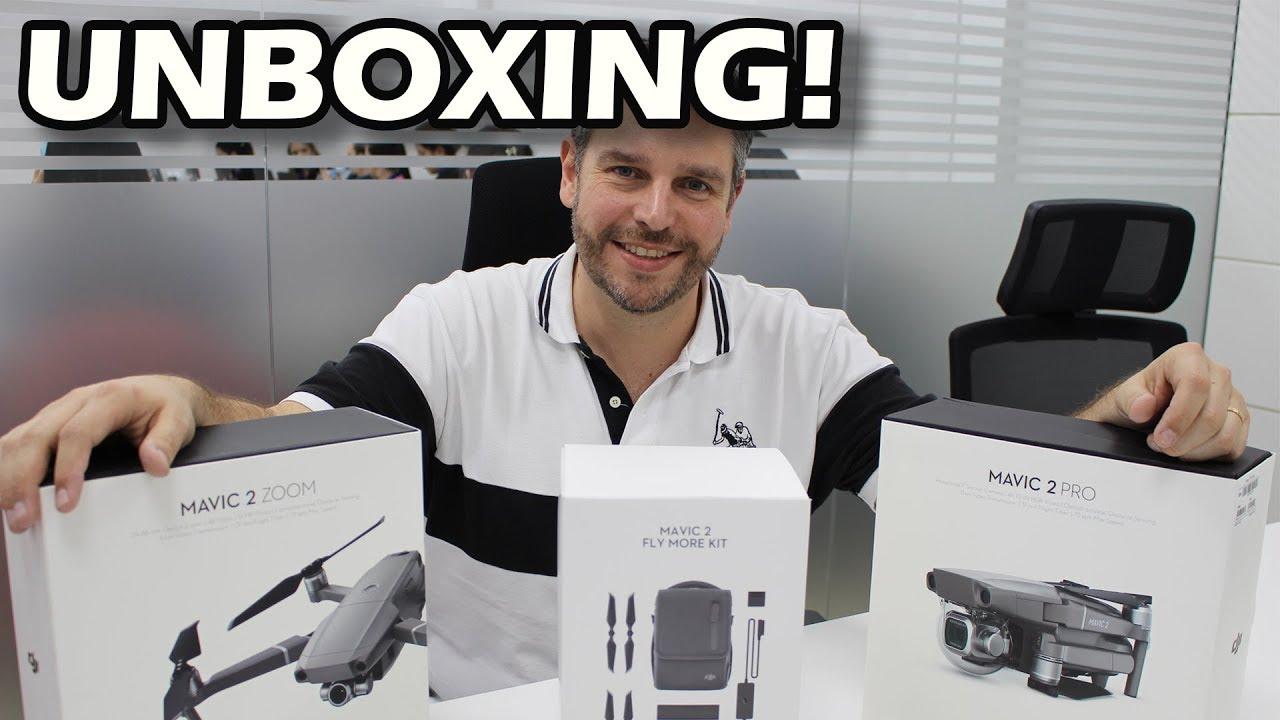 UNBOXING - DRONE DJI MAVIC 2 - PRO, ZOOM e FLY MORE KIT ...