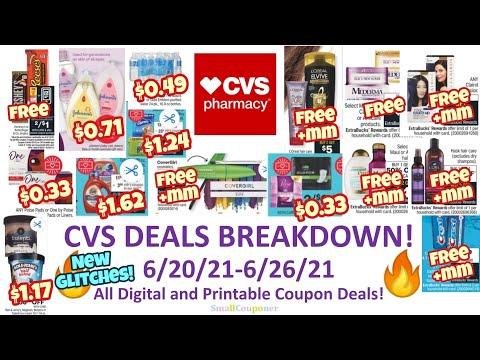 CVS Deals Breakdown 6/20/21-6/26/21! Glitches! All Digital and Printable Coupon Deals!