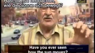 Moslem sagt Die Erde ist NICHT rund !!! Weil es nicht im Koran steht