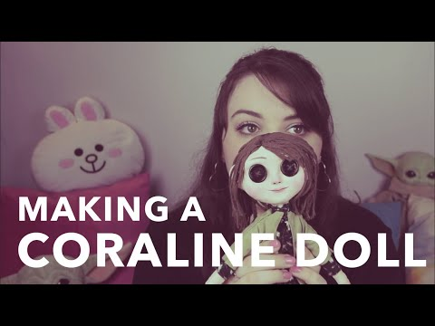 Making A Coraline Little Me Doll Youtube