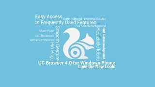 UC Browser 4.0 for Windows Phone!  Love the new look!
