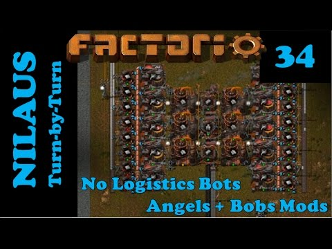 Lets Play Factorio S6E34 - New Tin Plate production with Angels Smelting