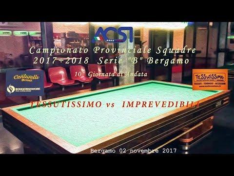 "Campionato Serie ""B"" Bergamo 10^ andata - Live stream di Rosario Velardo"