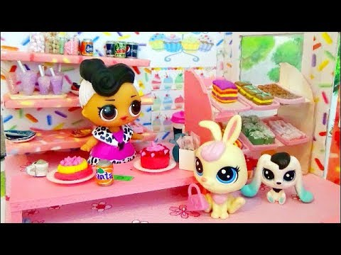 Papusa LOL Dollface vinde prajituri jucariilor LPS / Poveste pentru copii / Fireflies kids