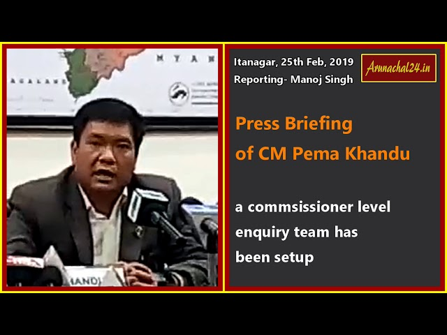 CM  Khandu seeks cooperation of everyone to bring peace in the state capital