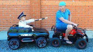 дима и папа играют в полицейского и  нарушителя | Дима и Машинки