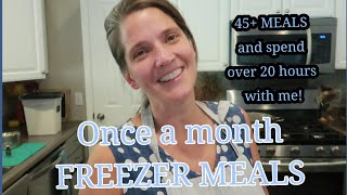 Stay up with me for 20 HOURS!!  Once a month Grocery HAUL and ONCE A MONTH FREEZER COOKING-45+ MEALS