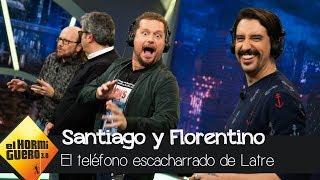 Santiago Segura y Florentino Fernández juegan al teléfono escacharrado de Latre - El Hormiguero 3.0