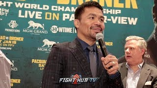 MANNY PACQUIAO HOPES TO BOX AS PRESIDENT OF PHILIPPINES! SAYS BRONER IS FAT!