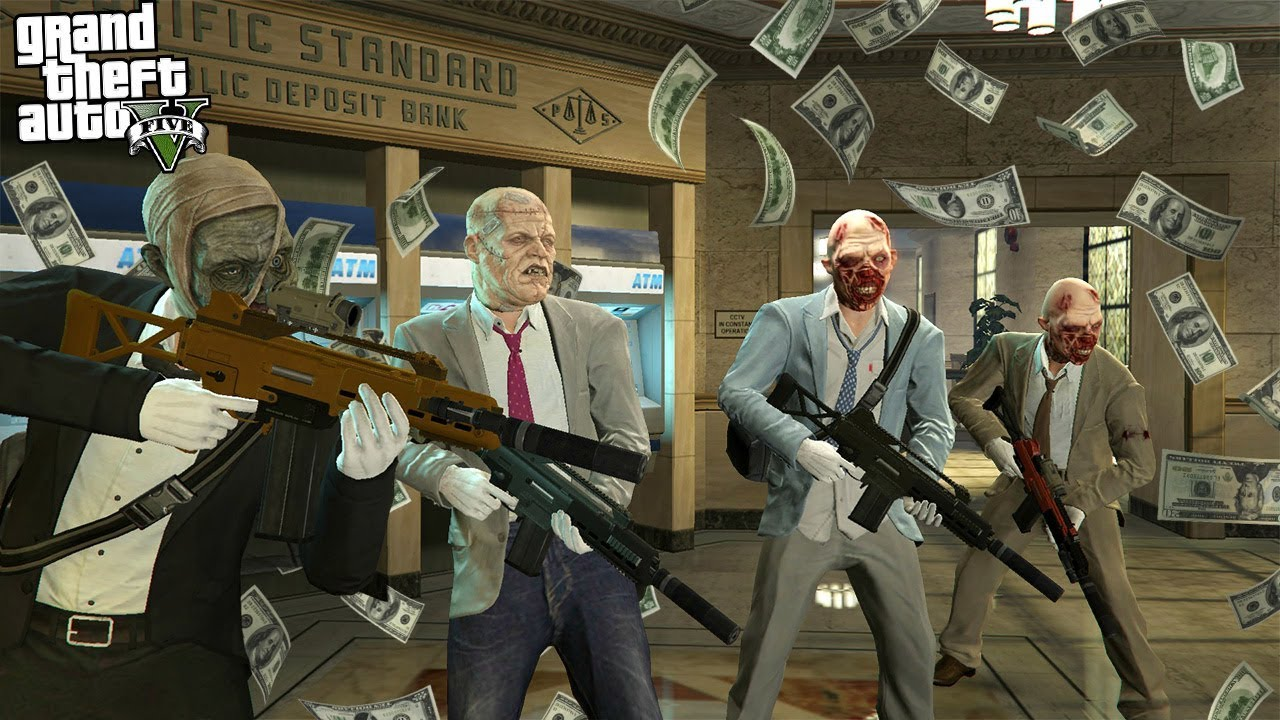 how to start a bank robbery in gta 5