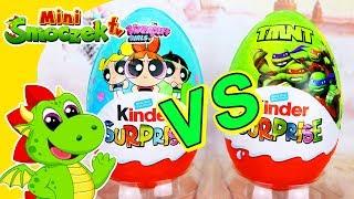 MEGA WIELKIE JAJKA: Atomówki i Wojownicze Żółwie Ninja | Niespodzianki Zabawki Bajki Dla Dzieci