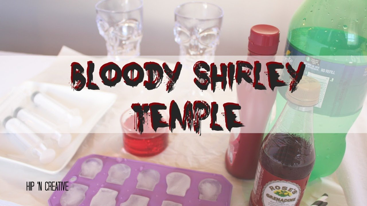 Bloody Shirley Temple Drink Recipe | Halloween Drinks | Hip 'n Creative