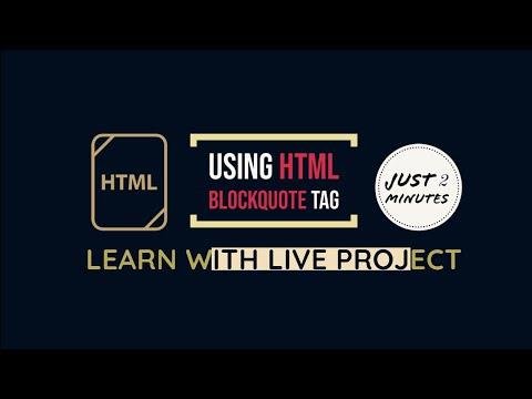 Using HTML Blockquote Tag   HTML Bangla Tutorial   HTML Full Course   Codecampfree
