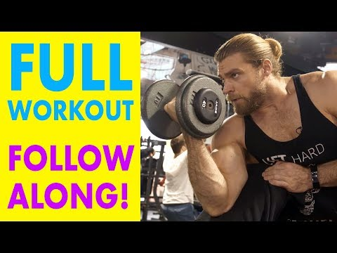 Full Body Dumbbell Routine (Entire Workout, Follow Along!) | Dumbbell Workout Plan P2D3