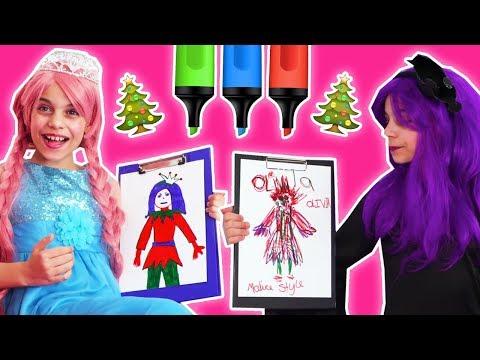 Christmas Three Marker Challenge 🎄 Princess Olivia Vs. Malice - Christmas Princesses In Real Life