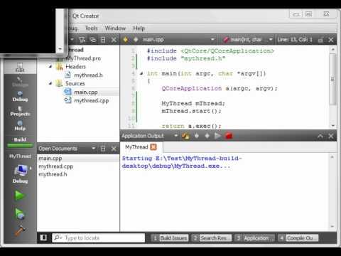 C++ Qt 28 - QThread part 1 creating a thread