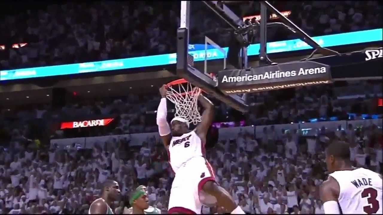 LeBron James SICK Two-Handed Alley-Oop Dunk over Rajon Rondo in HD (GAME 7) - YouTube