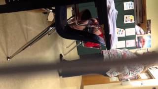Crazy teacher freaks out on students