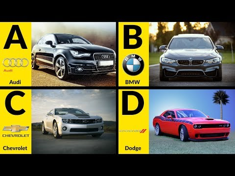 ABC Car Brands For Children - Learn Car Brands From A To Z Full Alphabet For Toddlers & Kids