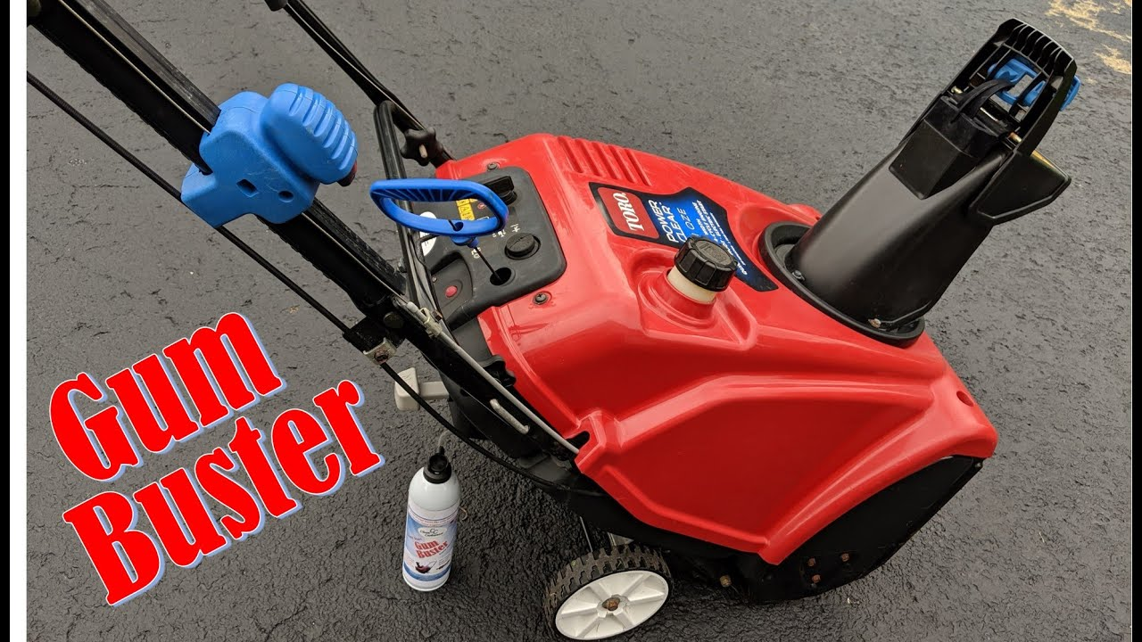 Toro snowblower won't start quick fix with GumBuster by CleanCarburetor