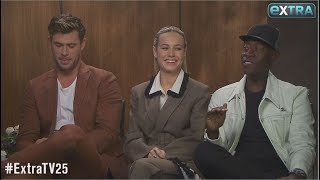 They Know the Ending! Chris Hemsworth, Brie Larson & Don Cheadle Talk 'Avengers: Endgame'