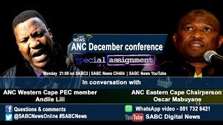 Special Assignment: ANC Elective Conference, 20 November 2017