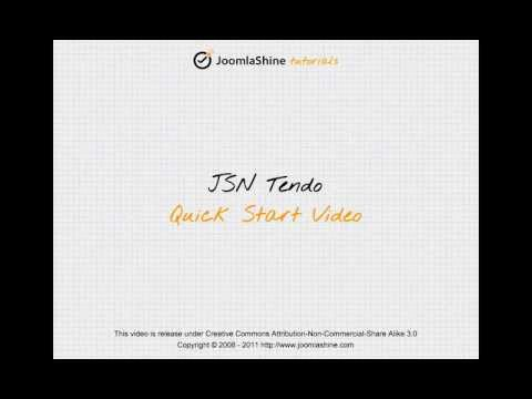 Joomla Templates Tutorials | JSN Tendo Quick Start official video