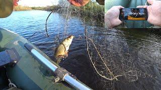Рыбалка на сети Нашел рыбу с помощью эхолота Ставлю сети и ловлю