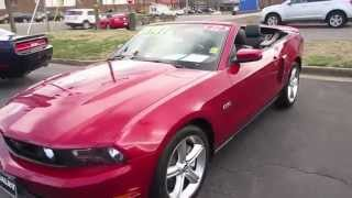 2012 Ford Mustang GT 5.0 6-spd Convertible Walkaround, Start up, Exhaust, Tour and Overview
