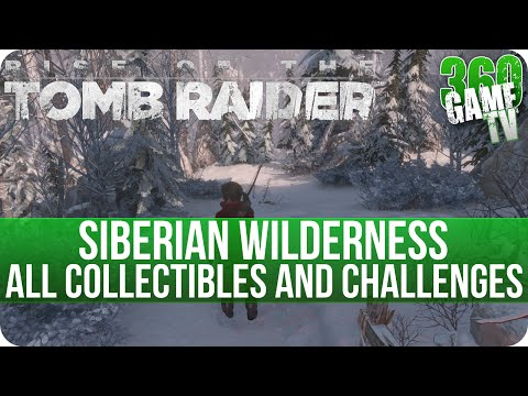Rise of the Tomb Raider - Siberian Wilderness - All Collectibles and Grab and Go Challenge Locations