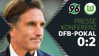 """""""Fight gut angenommen""""   Pressekonferenz   Hannover 96 - VfL Wolfsburg"""
