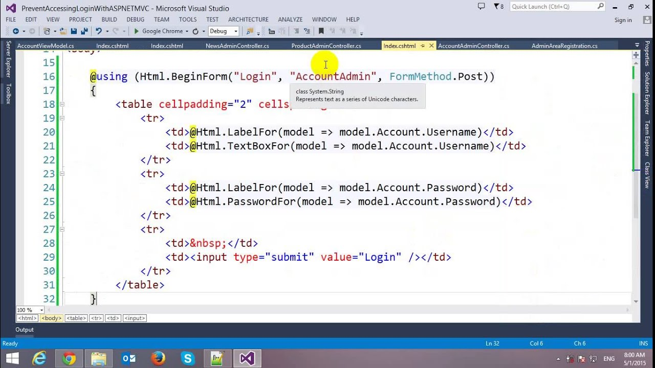 Prevent Accessing Restricted Page Without Login in ASP NET MVC