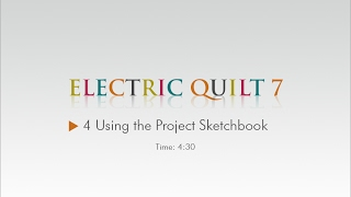 04 Using the Project Sketchbook – EQ7 Help