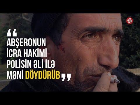 """""""Abşeronun icra hakimi polisin əli ilə məni döydürüb"""" - Evsiz Qarabağ əlili danışır"""