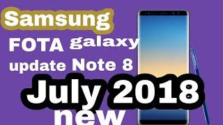 Samsung galaxy note 8 FOTA update good news