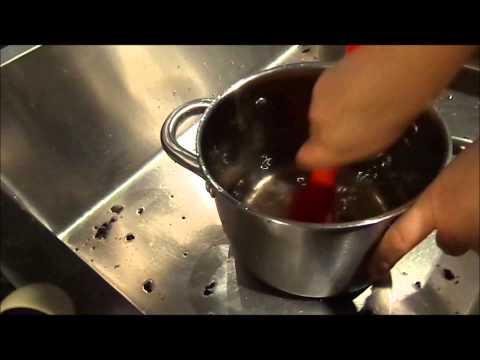 how to clean a burnt saucepan