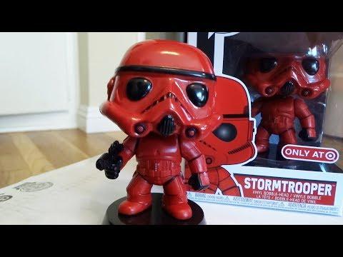 Target Exclusive Red Stormtrooper UNBOXING Star Wars Funko Pop! Vinyl bobblehead