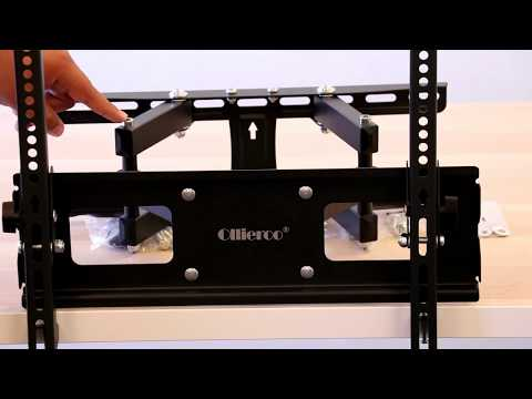 Ollieroo Full Motion Articulating TV Wall Mount for Most 32-60 Inch TV up to VESA 400x400mm