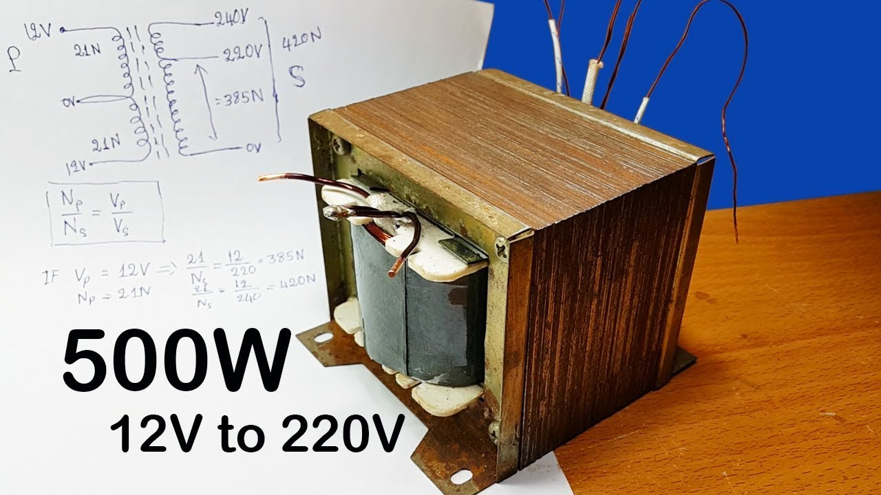 How To Calculating Turns And Voltage Of Transformers For Inverter Motor 12v Dc 220v Ac Circuit 12vdc 120vac 500w Part 1
