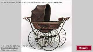 Art Moderne/1940s Antique Baby Carriage/crib/cradle American