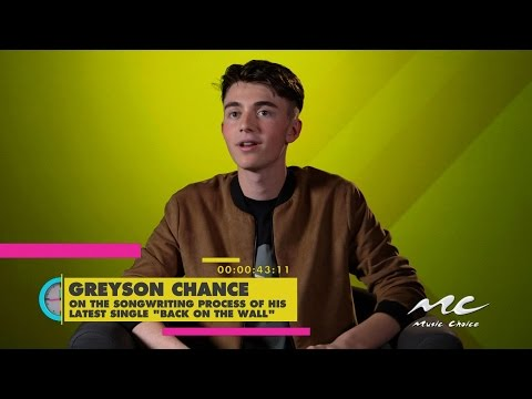 """Greyson Chance on Writing """"Back on the Wall"""""""